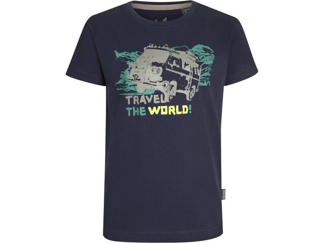 Elkline Abenteuer T-Shirt Enfant, blueshadow/vw